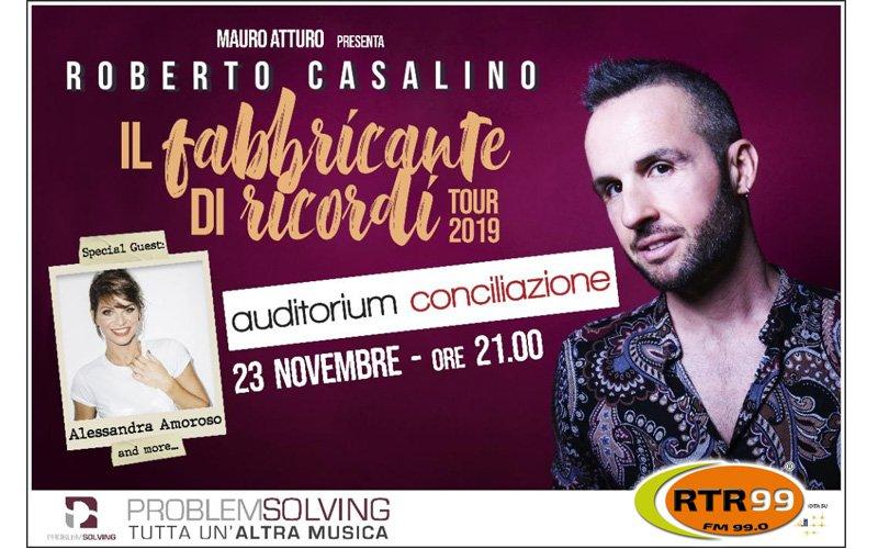 Roberto Casalino in concerto all'Auditorium Conciliazione il 23 novembre
