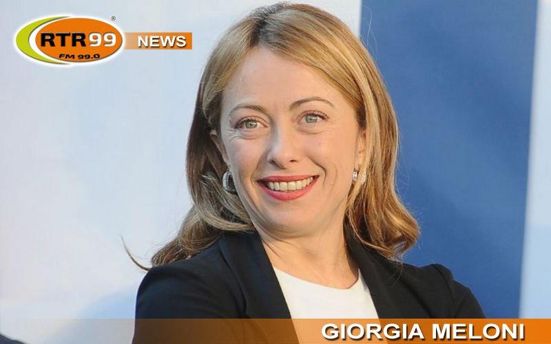 Giorgia Meloni ospite di Luca Casciani in diretta su RTR 99