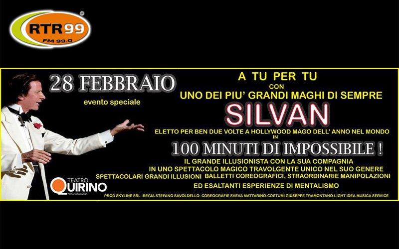 """""""A tu per tu con Silvan"""" un evento speciale al Teatro Quirino di Roma il 28 febbraio"""