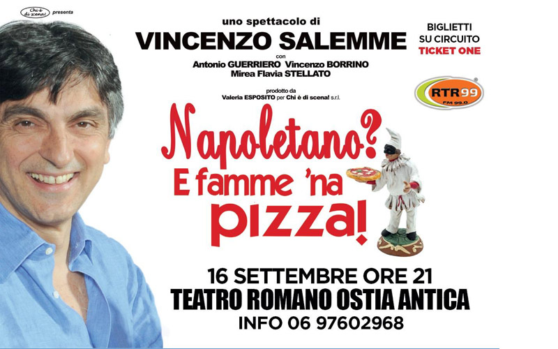 Vincenzo Salemme al Teatro Romano di Ostia Antica