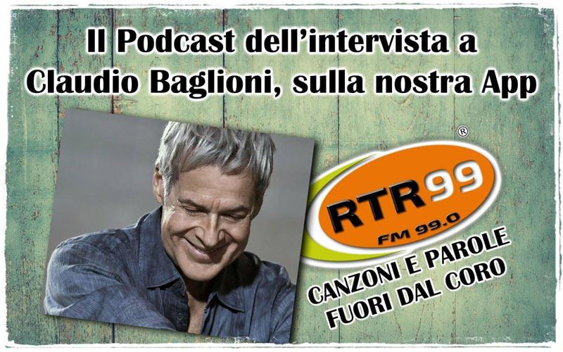 Ascolta il podcast dell'intervista a Claudio Baglioni