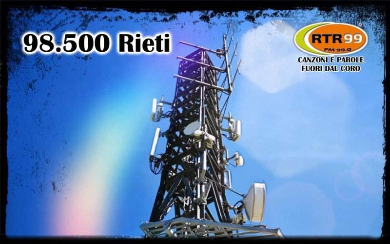 RTR 99 si ascolta anche a Rieti e Provincia sui 98.5 FM