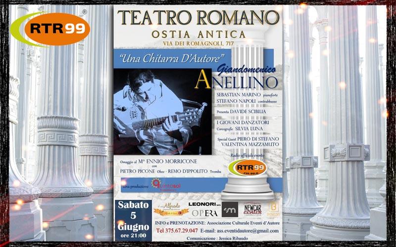 Giandomenico Anellino in concerto al Teatro Romano di Ostia Antica